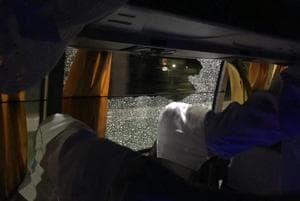 The Australian cricket team bus was attacked in Guwahati on Tuesday night. Australia had beaten India to level the T20 series 1-1.