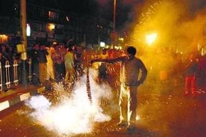 On Diwali nights last two years, Mumbai's air quality index (AQI) breached permissible levels.