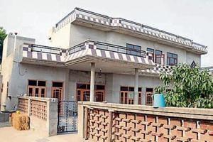 The house at Bathinda's Jangi Rana village where Panchkula police brought Honeypreet and her aide Sukhdeep.
