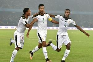 Ghana thrashed India 4-0 to qualify for the next round of the FIFAU-17 World Cup while for the hosts, their journey came to a disappointing end.