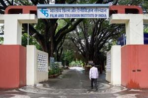 FTII Main gate in Pune, on Wednesday.
