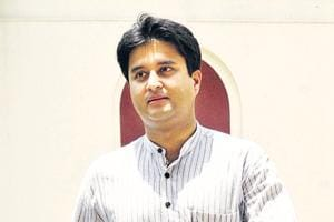 Congress MP Jyotiraditya Scindia was at an event in a college in his parliamentary constituency of Guna on October 10.