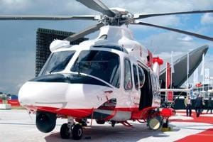 An AgustaWestland helicopter