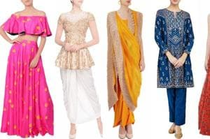 Your guide to Diwali dressing: Embroidered sharara to peplum kurta and...
