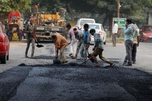 Gurgaon: Road repair work started in South City 2 after a 5-year wait