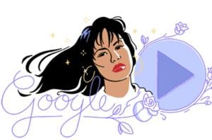 Google Doodle celebrates Queen of Tejano music, Selena Quintanilla