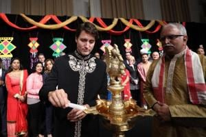 Canadian PM Justin Trudeau wishes 'Diwali Mubarak', Twitter is not...