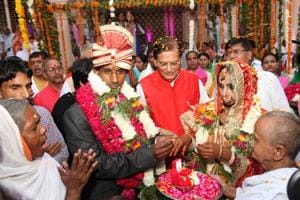 Vinita Devi, 23, who lost her husband in the 2013 Kedarnath landslide, tied the nuptial knot with Rakesh.