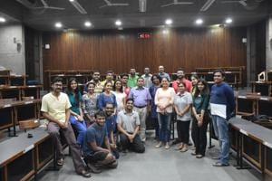 A course on Panchatantra was initiated on an experimental basis by Professor N Ravichandran (standing, sixth from left), faculty in production and quantitative methods area at IIM Ahmedabad.