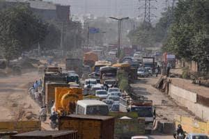 Gurgaon roads jammed ahead of Diwali