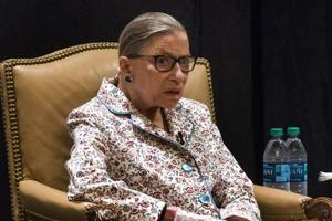 US Supreme Court Justice Ruth Bader Ginsburg at the Utah State Bar annual convention in Sun Valley, Idaho, US, in July 2017.