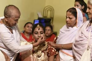 Photos: Young widow's marriage solemnized in Vrindavan at...