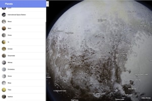 Now, explore planets and moons in our solar system through Google Maps