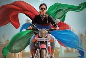 Jyothika in a scene from her latest film Magalir Mattum.
