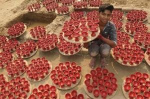 It's a cracker of a Diwali for diya sellers in Chandigarh