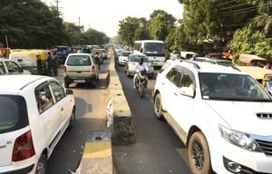 Roads witnessed a manifold increase in traffic volume because of which commuters got stuck for hours and were delayed in reaching their destinations.