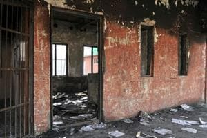 A government school in Gori Pora in Budgam, Jammu and Kashmir, was burnt down in October 2016.
