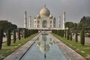 The Taj Mahal, one of the seven wonders of the modern world, attracts more than six million tourists a year.