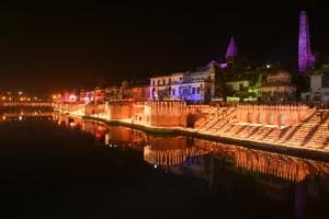 After lighting 187,213 earthen lamps, Ayodhya awaits world record...