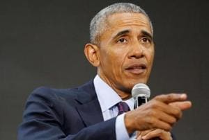 Barack Obama returns to campaign trail for first time since leaving...