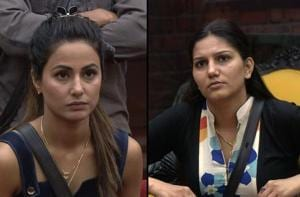 Bigg Boss 11: Hina Khan and Sapna Choudary fight it out over captaincy