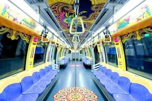 In pics: Feast your eyes on Singapore's gorgeous Diwali-themed trains...