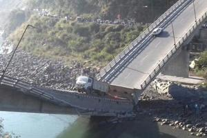 Six injured as bridge collapses in Chambra town of Himachal