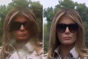 Will the real Melania Trump stand up? Internet abuzz with body double...