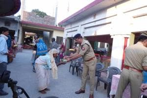 Noida, Ghaziabad cops spend Diwali evening with underprivileged
