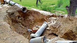 Under SAD-BJP regime, drainage department worked on scheme for motor pumps to drain out water from fields.