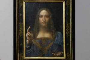 An orb has experts puzzled about authenticity of Leonardo da Vinci's...
