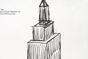 Empire State Building sketch drawn by Donald Trump fetches $16,000
