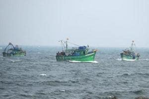 In this November 2016 photo, Indian fishermen return to harbour in Chennai. In a separate development, four Tamil Nadu fishermen were arrested by the Sri Lankan Navy for allegedly fishing near Thalaimannar coast.