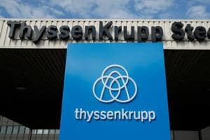 Workers protest Tata Steel Netherlands-Thyssenkrupp merger