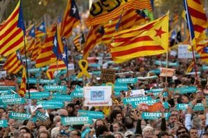 Catalonia's Puigdemont among 450,000 in pro-independence rally in...