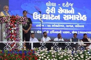 PM Modi takes veiled dig at Congress for 'stalling Gujarat's growth',...