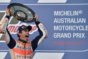 Marc Marquez extends MotoGP lead to 33 points with win in Australia
