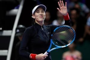 Garbine Muguruza demolishes Jelena Ostapenko at WTA Finals tennis