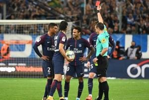 PSG's Neymar sees red card, says sent-off was 'harsh'