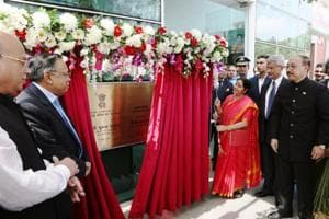 Sushma Swaraj opens India's new chancery complex in Dhaka capital