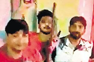 Hindu Yuva Vahini Ghaziabad chief caught on video firing gun, booked