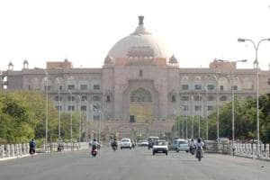 The Vidhan Sabha building in Jaipur. The BJP-ruled state has announced that it will bring in the Code of Criminal Procedure (Rajasthan Amendment) Bill in the Rajasthan Assembly session that starts on Monday.