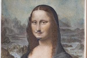 Conceptual artist Duchamp's moustachioed Mona Lisa sells for $750,000...