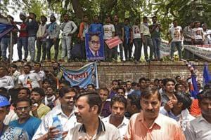 A protest at Jantar Mantar against the injustice towards Dalits in Saharanpur, Uttar Pradesh (File Photo)