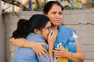 Victim Anmol Garg's classmate Harshita was among the many left in tears as pall of gloom engulfed Sector 10, Panchkula, after the news of casualties spread on Monday.