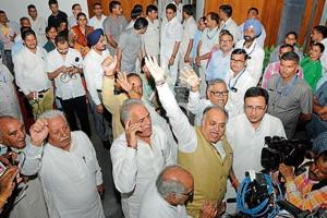 15 Congress MLAs expelled from Haryana assembly for creating ruckus