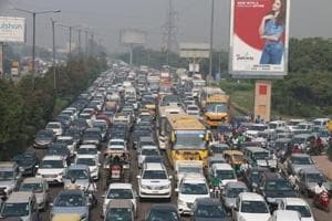 Due to the snarls, commuters had a harrowing time reaching their destinations. Vehicles were moving at a snail's pace for over three hours.
