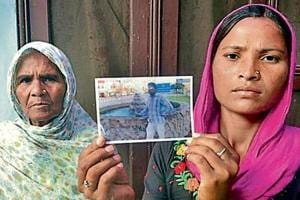 Sonu's wife Seema (R) with mother-in-law Jeeto at Chawinda Devi village in Amritsar district on Monday.