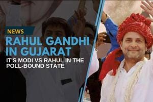 Congress vice-president Rahul Gandhi visited Gujarat on Monday, a day...