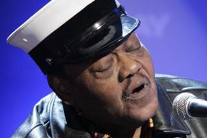 In this November 9, 2007 file photo, music legend Fats Domino performs on the NBC Today television show in New York.